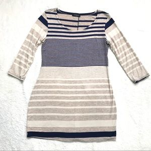 Eclipse   Striped Tunic, Buttons In Back